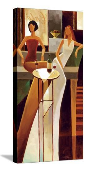 Les Sirens-Keith Mallett-Stretched Canvas Print