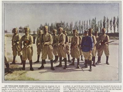Les Tirailleurs Marocains-Jules Gervais-Courtellemont-Photographic Print
