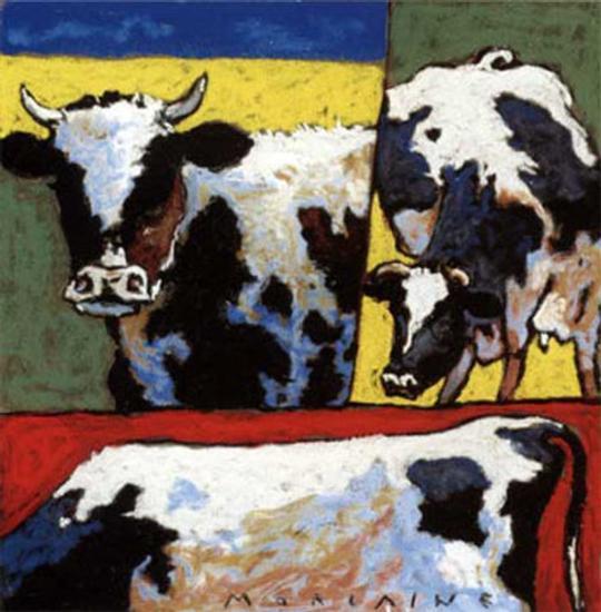 Les Trois Vaches-Morlaine-Art Print
