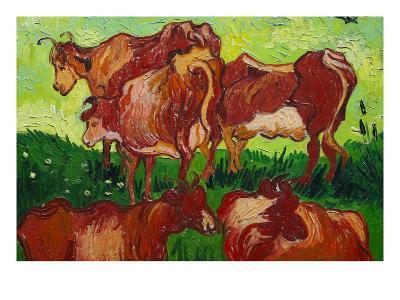 Les Vaches by Van Gogh-Vincent van Gogh-Art Print