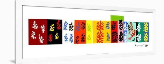 Les Velours, c.1947-Henri Matisse-Framed Serigraph
