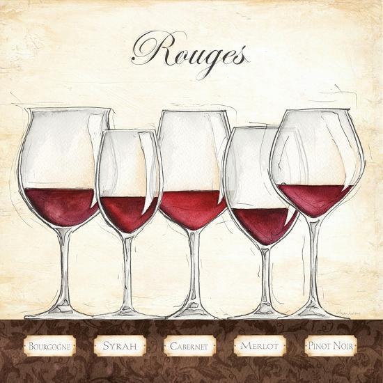 Les Vins Rouges-Andrea Laliberte-Art Print