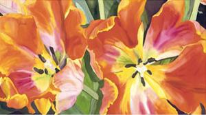 Two Parrot Tulips by Leslie Gerstman