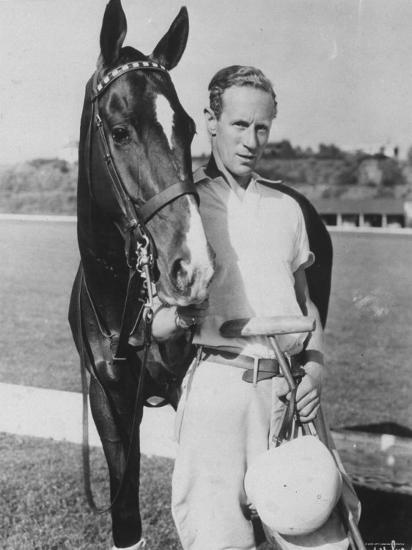 Leslie Howard in Riding Gear at Racetrack--Premium Photographic Print