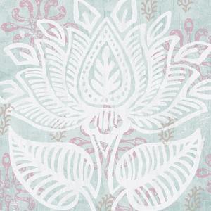 Block Print Lotus II by Leslie Mark
