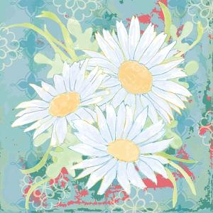 Daisy Patch Teal II by Leslie Mark