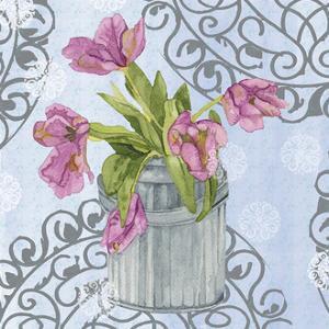 Garden Gate Flowers I by Leslie Mark