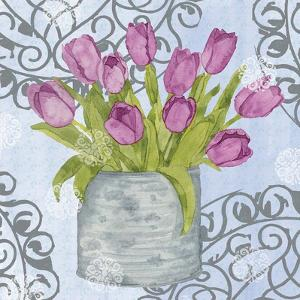 Garden Gate Flowers II by Leslie Mark