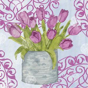 Garden Gate Flowers IV by Leslie Mark