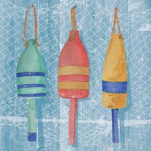 Lobster Buoys II by Leslie Mark