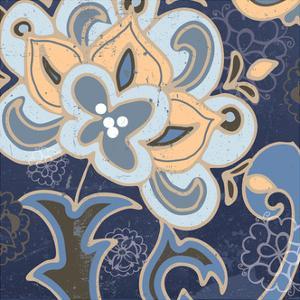 Paisley Blossom Blue I by Leslie Mark
