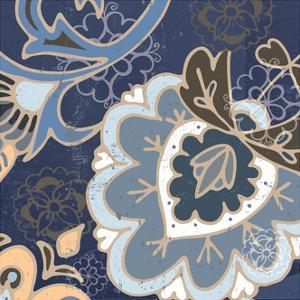 Paisley Blossom Blue II by Leslie Mark