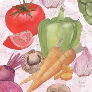 Veggie Medley II by Leslie Mark
