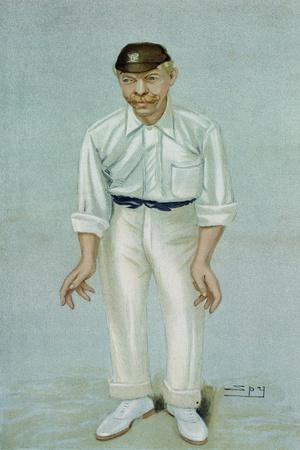Bobby', Caricature of the Cricketer Robert Abel, Published 5th June 1902 in Vanity Fair