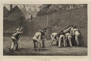 Football at the Wall at Eton by Leslie Matthew Ward