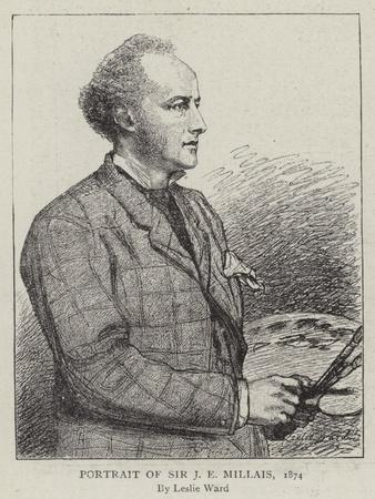Portrait of Sir J E Millais, 1874