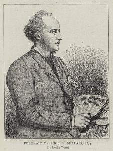Portrait of Sir J E Millais, 1874 by Leslie Matthew Ward