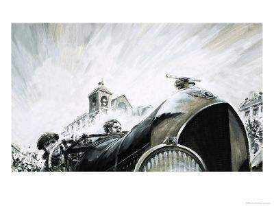 Leslie Pennal, Pioneering Mechanic of the Early Racing Days-Graham Coton-Giclee Print