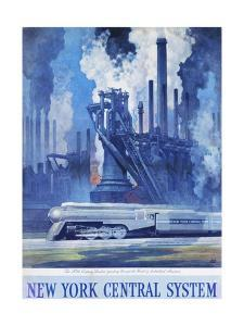 New York Central System Poster by Leslie Ragan