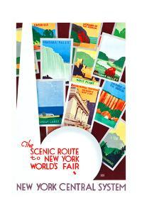 The Scenic Route To The New York World's Fair by Leslie Ragan