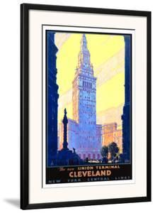 Union Terminal Cleveland, New York Central by Leslie Ragan