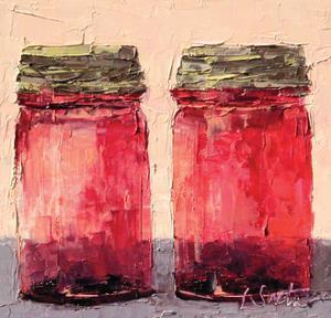 Cranberry Jars by Leslie Saeta