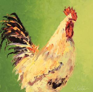 Fall Rooster by Leslie Saeta