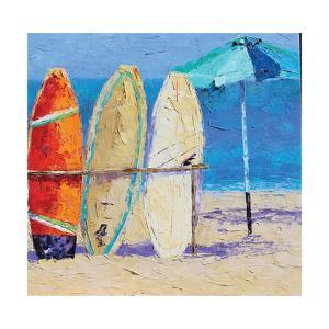 Resting on the Beach II by Leslie Saeta