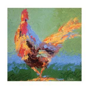 Rooster V by Leslie Saeta