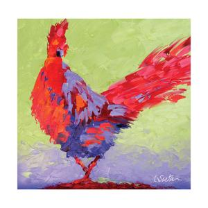 Rooster VI by Leslie Saeta
