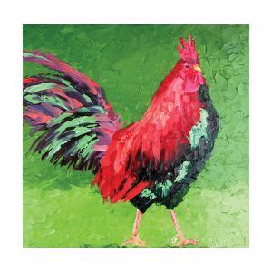 Rooster VIII by Leslie Saeta