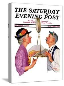 """""""Tipping the Scales,"""" Saturday Evening Post Cover, October 3,1936 by Leslie Thrasher"""