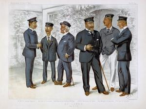 At Cowes the Royal Yacht Squadron by Leslie Ward