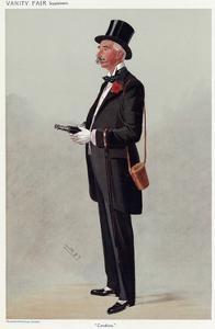 Dapper Racegoer 1908 by Leslie Ward