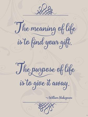 Meaning of Life Per Shakespeare