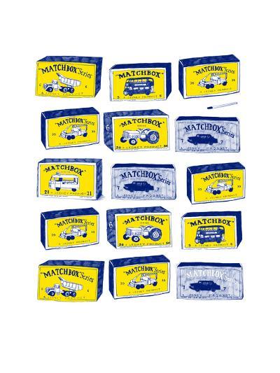 Lesney Matchbox Collection-Hanna Melin-Giclee Print