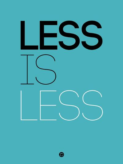 Less Is Less Blue-NaxArt-Art Print