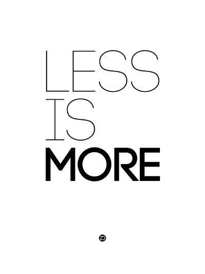 Less Is More White-NaxArt-Art Print
