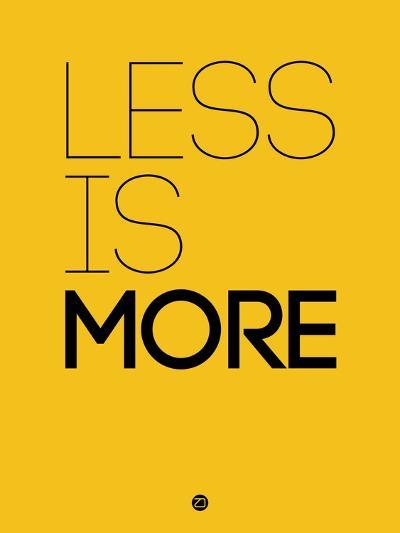 Less Is More Yellow-NaxArt-Art Print