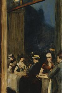 At the Cafe by Lesser Ury