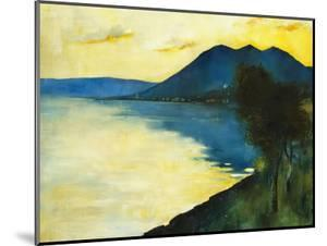 Bergsee at Sunset; Bergsee Am Sonnenuntergang by Lesser Ury