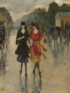 Berlin Street Scene by Lesser Ury