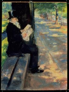 Gentleman in a Zoo, C.1900 by Lesser Ury
