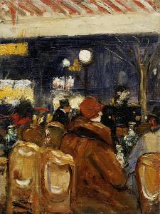 In the Cafe by Lesser Ury