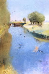 Landscape with a Canal. 1897 by Lesser Ury