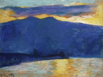Sonnenaufgang am Gardasee. 1896