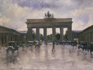 The Brandenburg Gate in Berlin by Lesser Ury