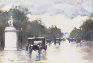 The Champs Elysees, 1928 by Lesser Ury