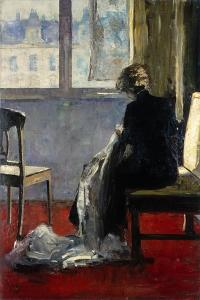 The Red Carpet, 1889 by Lesser Ury
