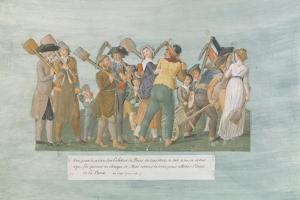 Fol.31 the Parisians Going to the Champ De Mars, 1792 by Lesueur Brothers